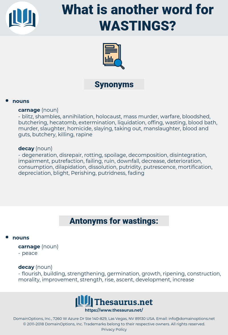 wastings, synonym wastings, another word for wastings, words like wastings, thesaurus wastings