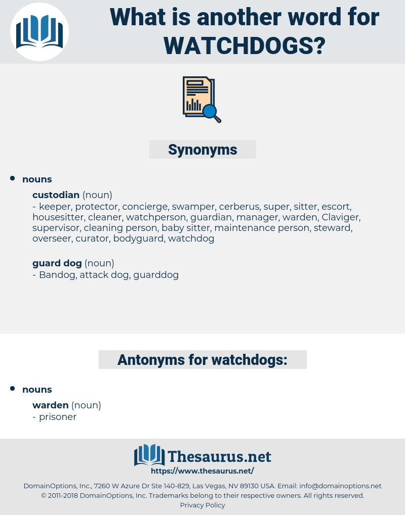 watchdogs, synonym watchdogs, another word for watchdogs, words like watchdogs, thesaurus watchdogs