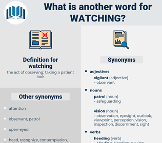 watching, synonym watching, another word for watching, words like watching, thesaurus watching