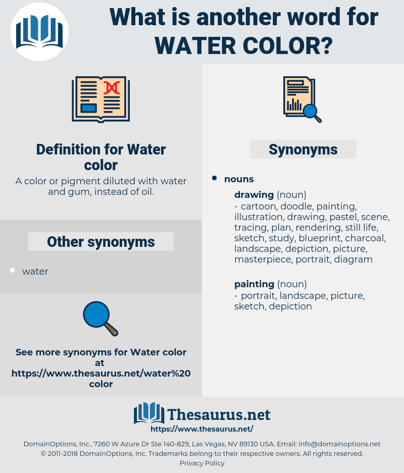 Water color, synonym Water color, another word for Water color, words like Water color, thesaurus Water color