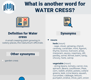Water cress, synonym Water cress, another word for Water cress, words like Water cress, thesaurus Water cress