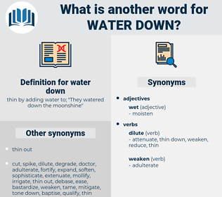 water down, synonym water down, another word for water down, words like water down, thesaurus water down