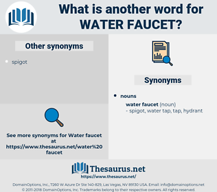 water faucet, synonym water faucet, another word for water faucet, words like water faucet, thesaurus water faucet