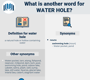 water hole, synonym water hole, another word for water hole, words like water hole, thesaurus water hole
