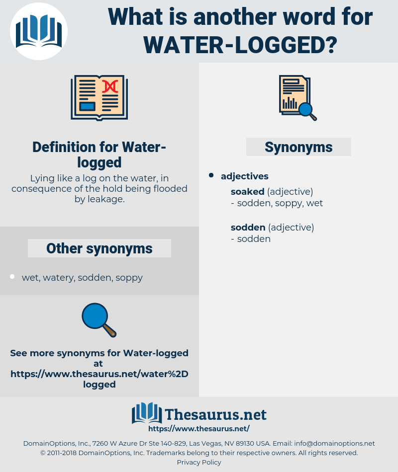 Water-logged, synonym Water-logged, another word for Water-logged, words like Water-logged, thesaurus Water-logged