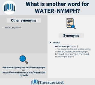water nymph, synonym water nymph, another word for water nymph, words like water nymph, thesaurus water nymph