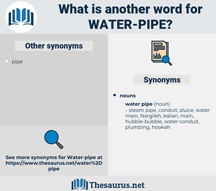 water pipe, synonym water pipe, another word for water pipe, words like water pipe, thesaurus water pipe