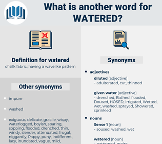 watered, synonym watered, another word for watered, words like watered, thesaurus watered