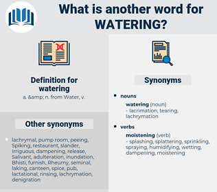 watering, synonym watering, another word for watering, words like watering, thesaurus watering
