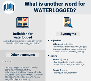 waterlogged, synonym waterlogged, another word for waterlogged, words like waterlogged, thesaurus waterlogged