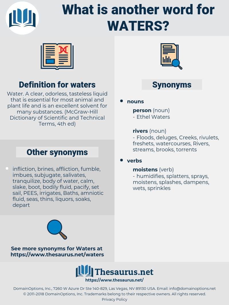 waters, synonym waters, another word for waters, words like waters, thesaurus waters