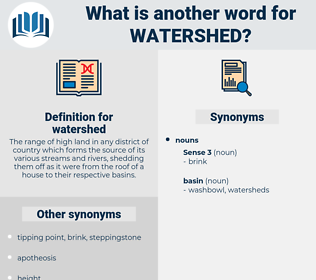 watershed, synonym watershed, another word for watershed, words like watershed, thesaurus watershed