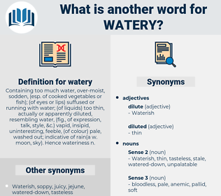 watery, synonym watery, another word for watery, words like watery, thesaurus watery