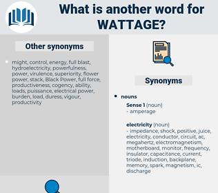 wattage, synonym wattage, another word for wattage, words like wattage, thesaurus wattage