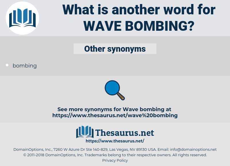 wave bombing, synonym wave bombing, another word for wave bombing, words like wave bombing, thesaurus wave bombing