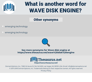 wave disk engine, synonym wave disk engine, another word for wave disk engine, words like wave disk engine, thesaurus wave disk engine