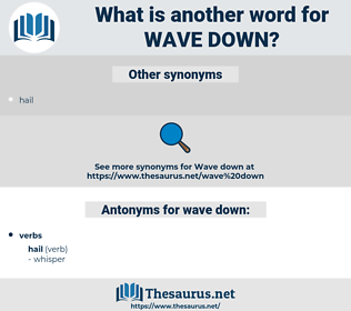 wave down, synonym wave down, another word for wave down, words like wave down, thesaurus wave down