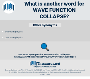 wave function collapse, synonym wave function collapse, another word for wave function collapse, words like wave function collapse, thesaurus wave function collapse