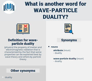 wave-particle duality, synonym wave-particle duality, another word for wave-particle duality, words like wave-particle duality, thesaurus wave-particle duality
