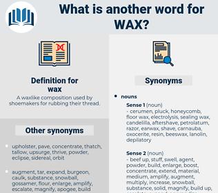 wax, synonym wax, another word for wax, words like wax, thesaurus wax