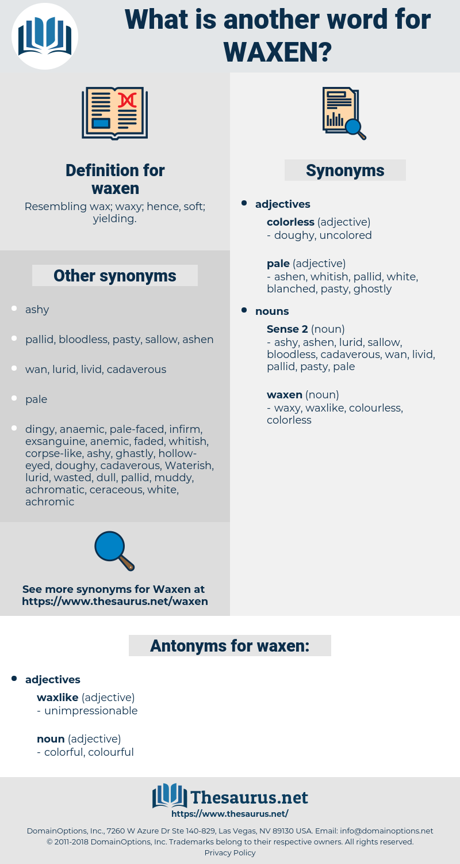 waxen, synonym waxen, another word for waxen, words like waxen, thesaurus waxen