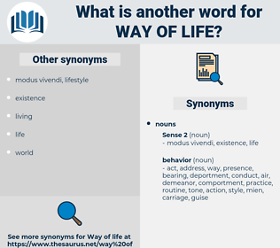 way of life, synonym way of life, another word for way of life, words like way of life, thesaurus way of life