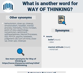 way of thinking, synonym way of thinking, another word for way of thinking, words like way of thinking, thesaurus way of thinking