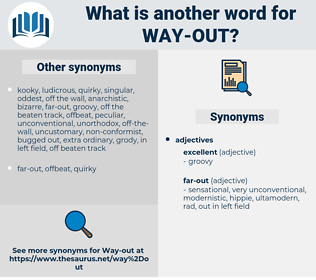 way out, synonym way out, another word for way out, words like way out, thesaurus way out
