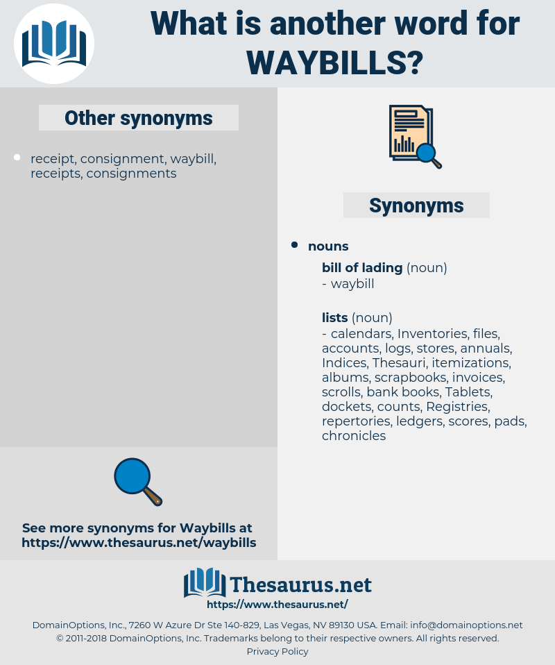 waybills, synonym waybills, another word for waybills, words like waybills, thesaurus waybills