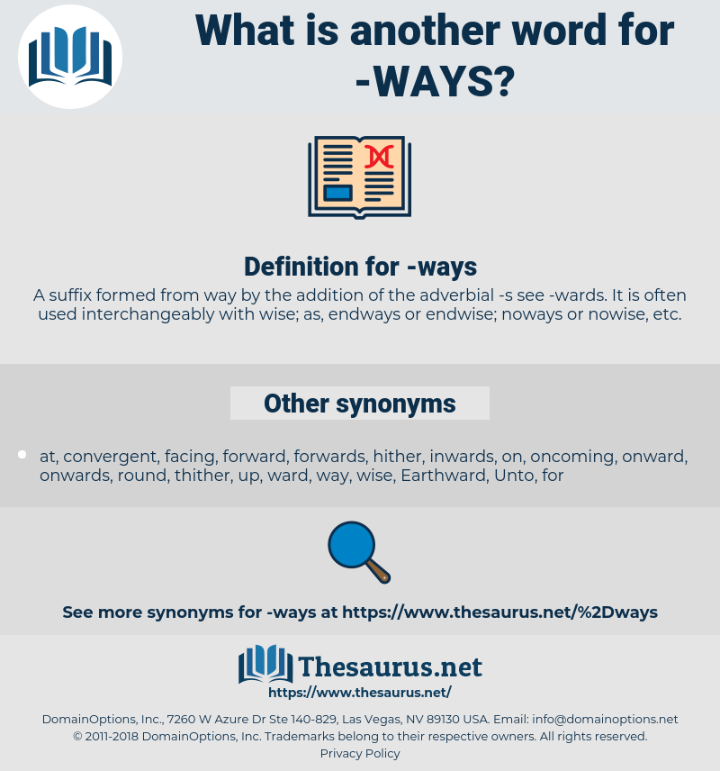 ways, synonym ways, another word for ways, words like ways, thesaurus ways