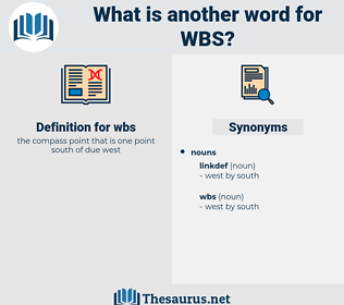 wbs, synonym wbs, another word for wbs, words like wbs, thesaurus wbs