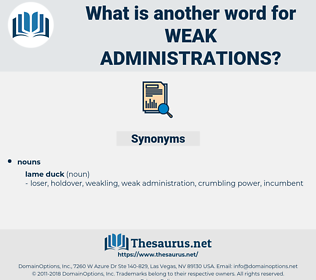 weak administrations, synonym weak administrations, another word for weak administrations, words like weak administrations, thesaurus weak administrations