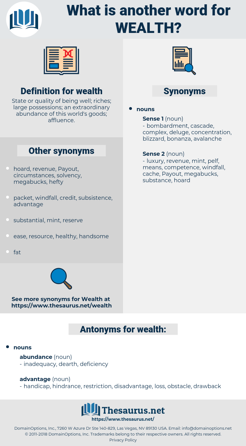 wealth, synonym wealth, another word for wealth, words like wealth, thesaurus wealth
