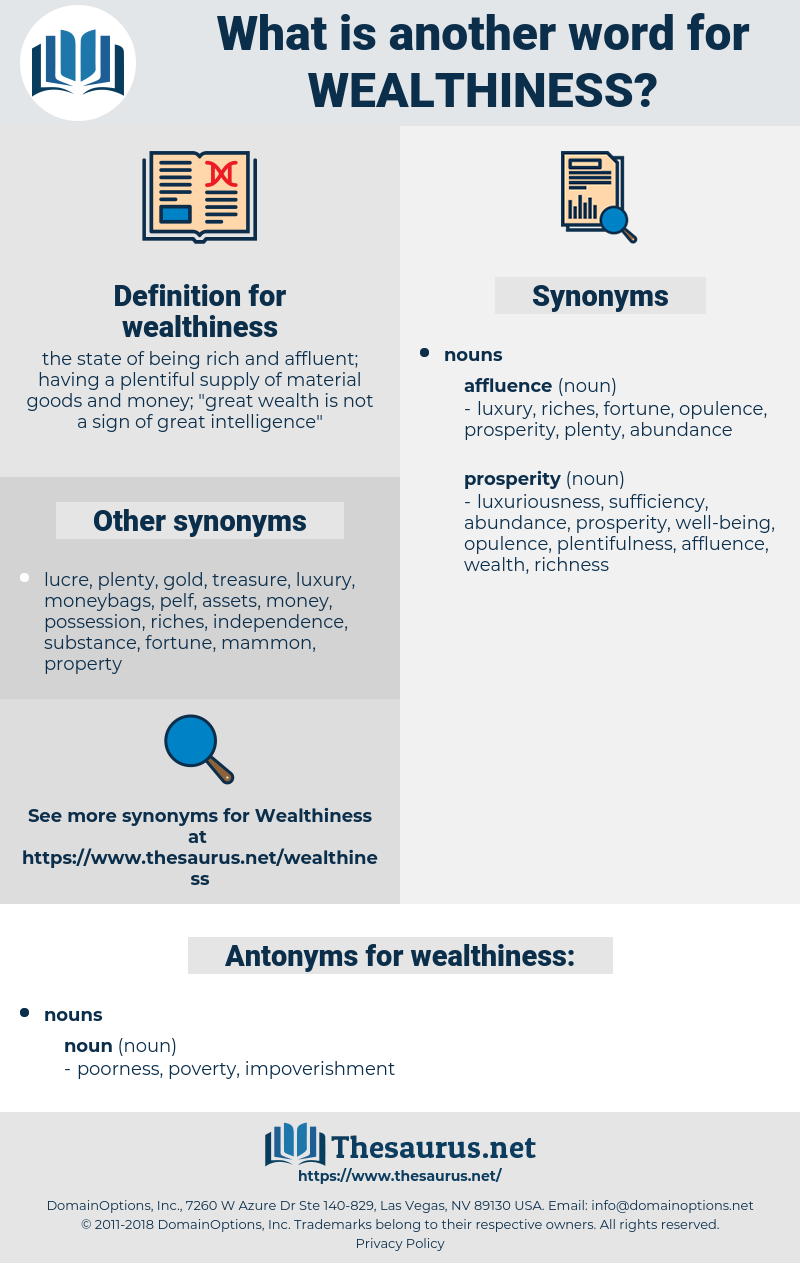 wealthiness, synonym wealthiness, another word for wealthiness, words like wealthiness, thesaurus wealthiness