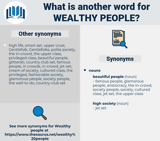 wealthy people, synonym wealthy people, another word for wealthy people, words like wealthy people, thesaurus wealthy people