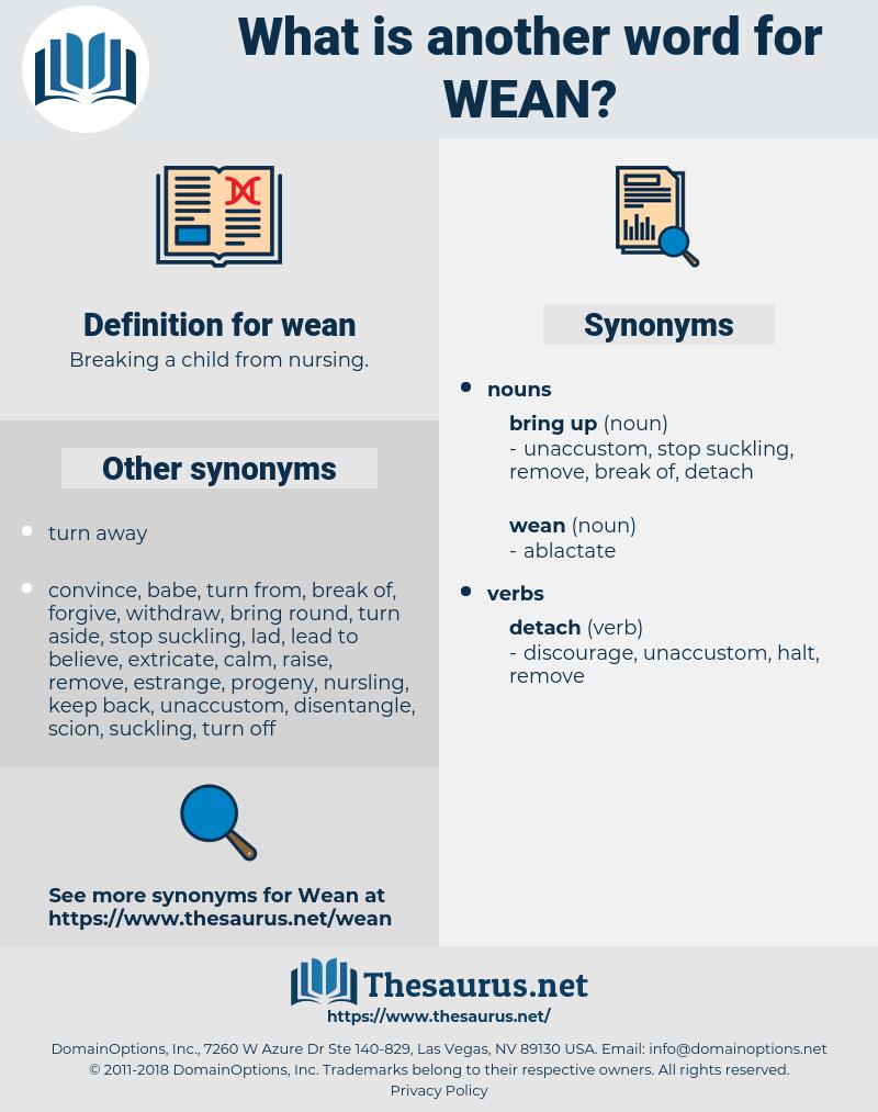 wean, synonym wean, another word for wean, words like wean, thesaurus wean