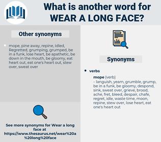 wear a long face, synonym wear a long face, another word for wear a long face, words like wear a long face, thesaurus wear a long face