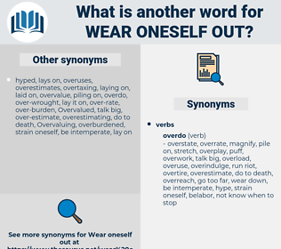 wear oneself out, synonym wear oneself out, another word for wear oneself out, words like wear oneself out, thesaurus wear oneself out