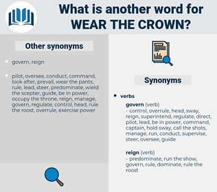wear the crown, synonym wear the crown, another word for wear the crown, words like wear the crown, thesaurus wear the crown