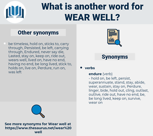 wear well, synonym wear well, another word for wear well, words like wear well, thesaurus wear well