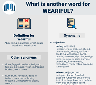 Weariful, synonym Weariful, another word for Weariful, words like Weariful, thesaurus Weariful