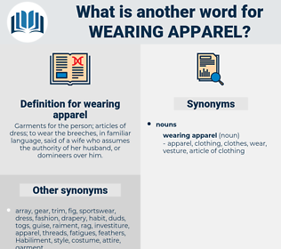 wearing apparel, synonym wearing apparel, another word for wearing apparel, words like wearing apparel, thesaurus wearing apparel