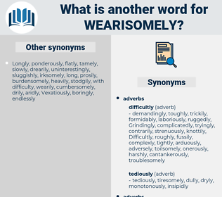 wearisomely, synonym wearisomely, another word for wearisomely, words like wearisomely, thesaurus wearisomely
