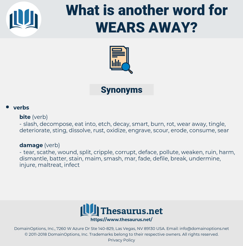 wears away, synonym wears away, another word for wears away, words like wears away, thesaurus wears away