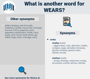 wears, synonym wears, another word for wears, words like wears, thesaurus wears