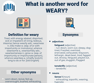 weary, synonym weary, another word for weary, words like weary, thesaurus weary