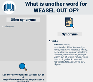 weasel out of, synonym weasel out of, another word for weasel out of, words like weasel out of, thesaurus weasel out of