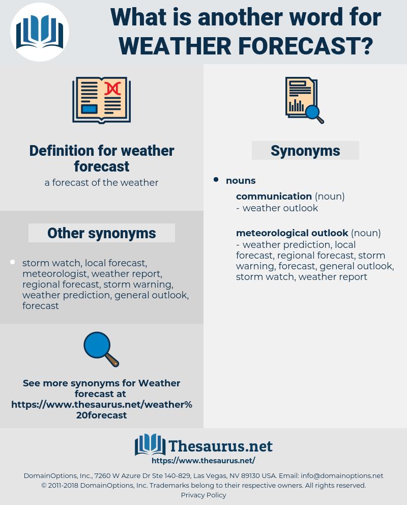 weather forecast, synonym weather forecast, another word for weather forecast, words like weather forecast, thesaurus weather forecast