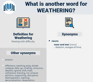 Weathering, synonym Weathering, another word for Weathering, words like Weathering, thesaurus Weathering