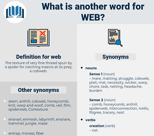 web, synonym web, another word for web, words like web, thesaurus web